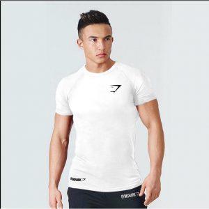 T Shirt Gym Apex BodyFit White